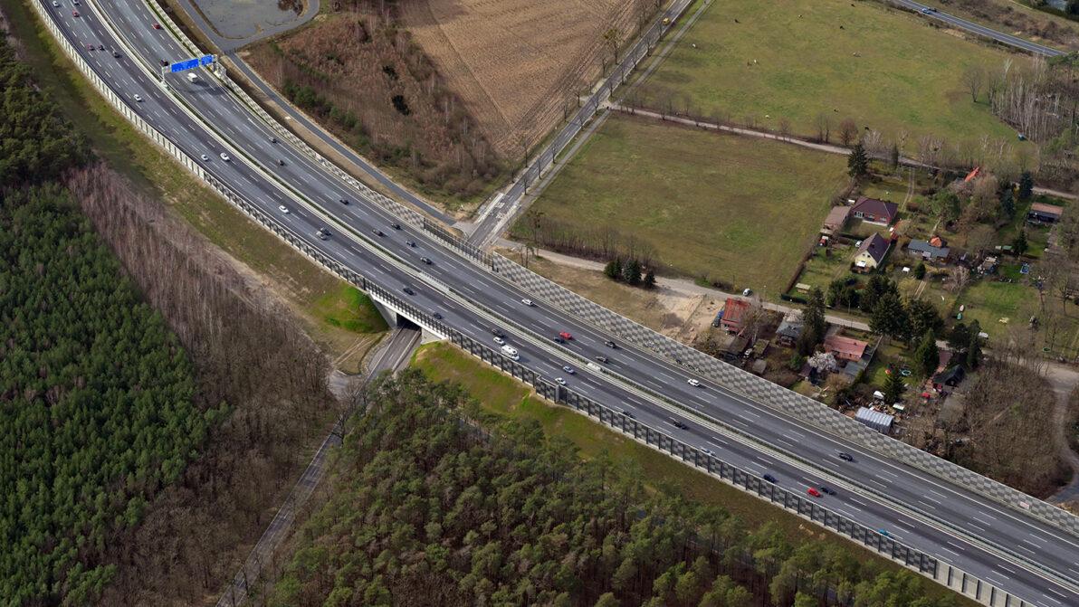 A 10, südlicher Berliner Ring, nach der Fertigstellung