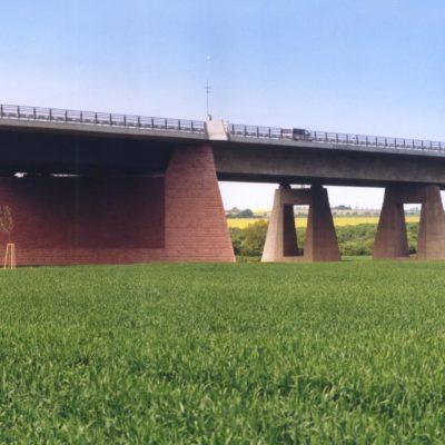 A 14 Vorlandbrücke Saalebrücke Beesedau