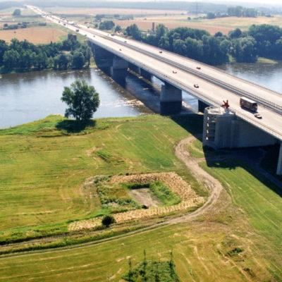 A 2 Elbebrücke Magdeburg (Luftbild)