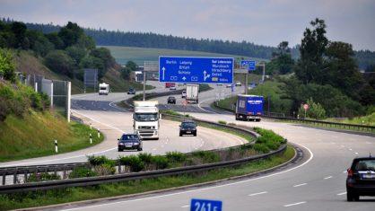 A 9 Strecke Richtung Hirschberg