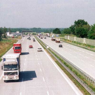 A 9 Strecke bei Brück