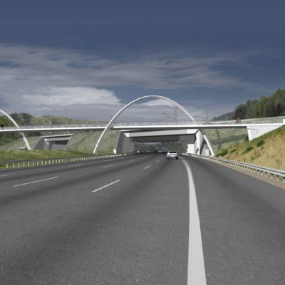 Fußgänger- und Radwegbrücke