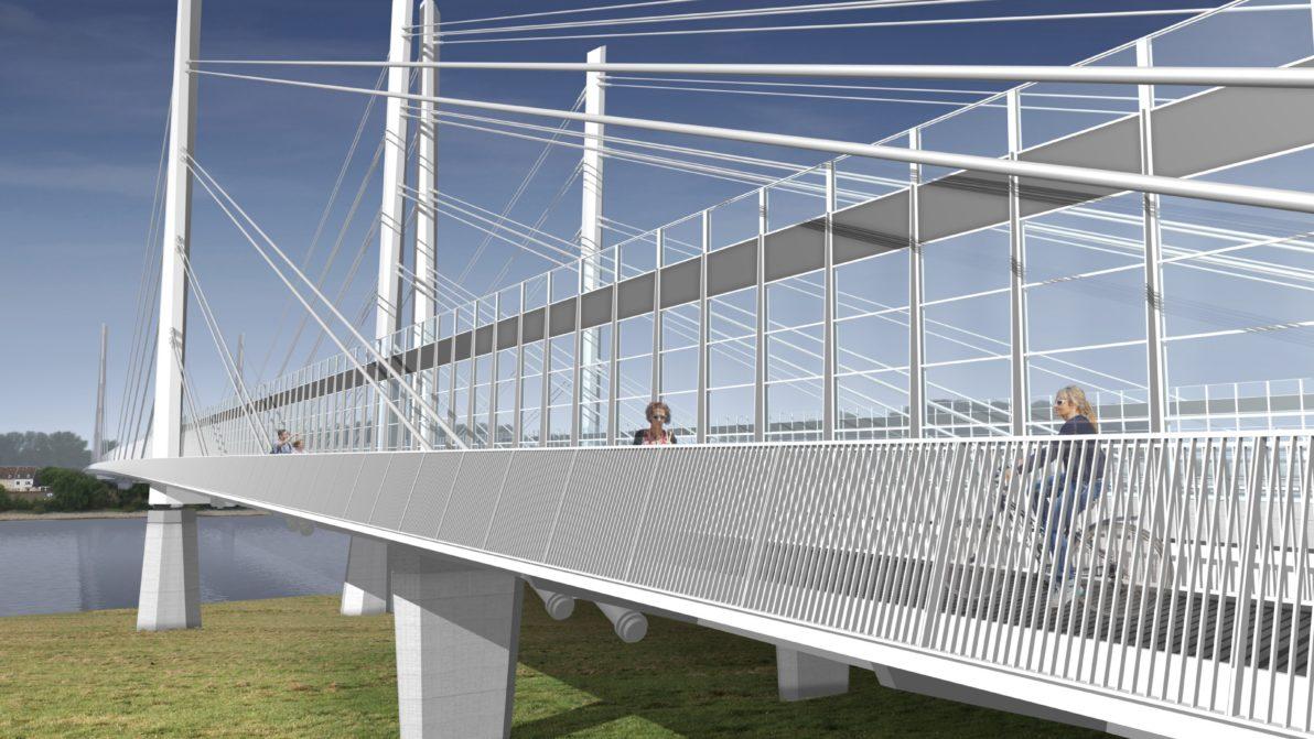 Visualisierung der neuen Rheinbrücke