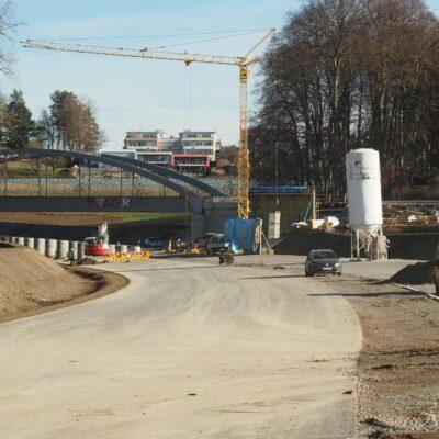 B 31, Fußgängerbrücke Eichenmühle, Vorbereitung Überbauherstellung