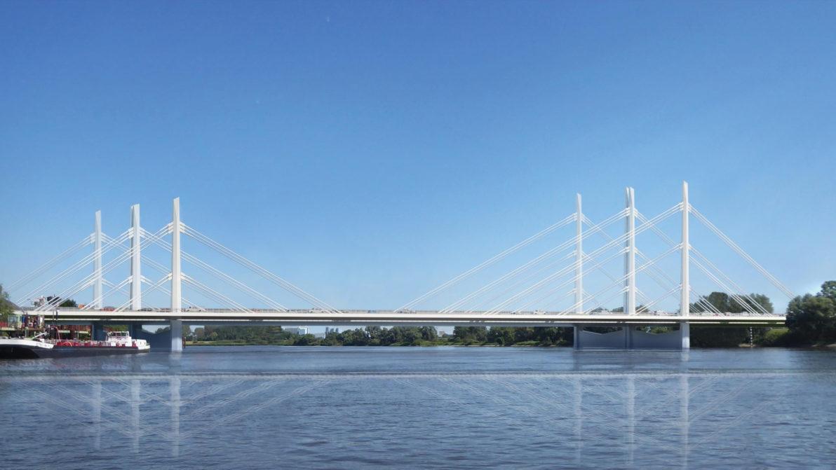 Visualisierung der Norderelbbrücke