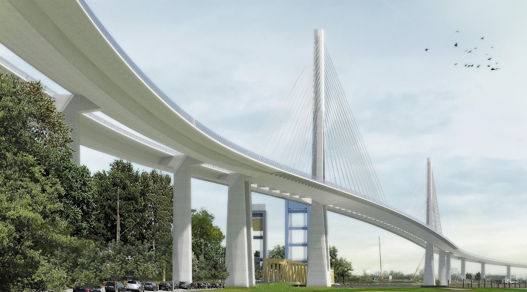 Siegerentwurf der neuen Südererlbbrücke
