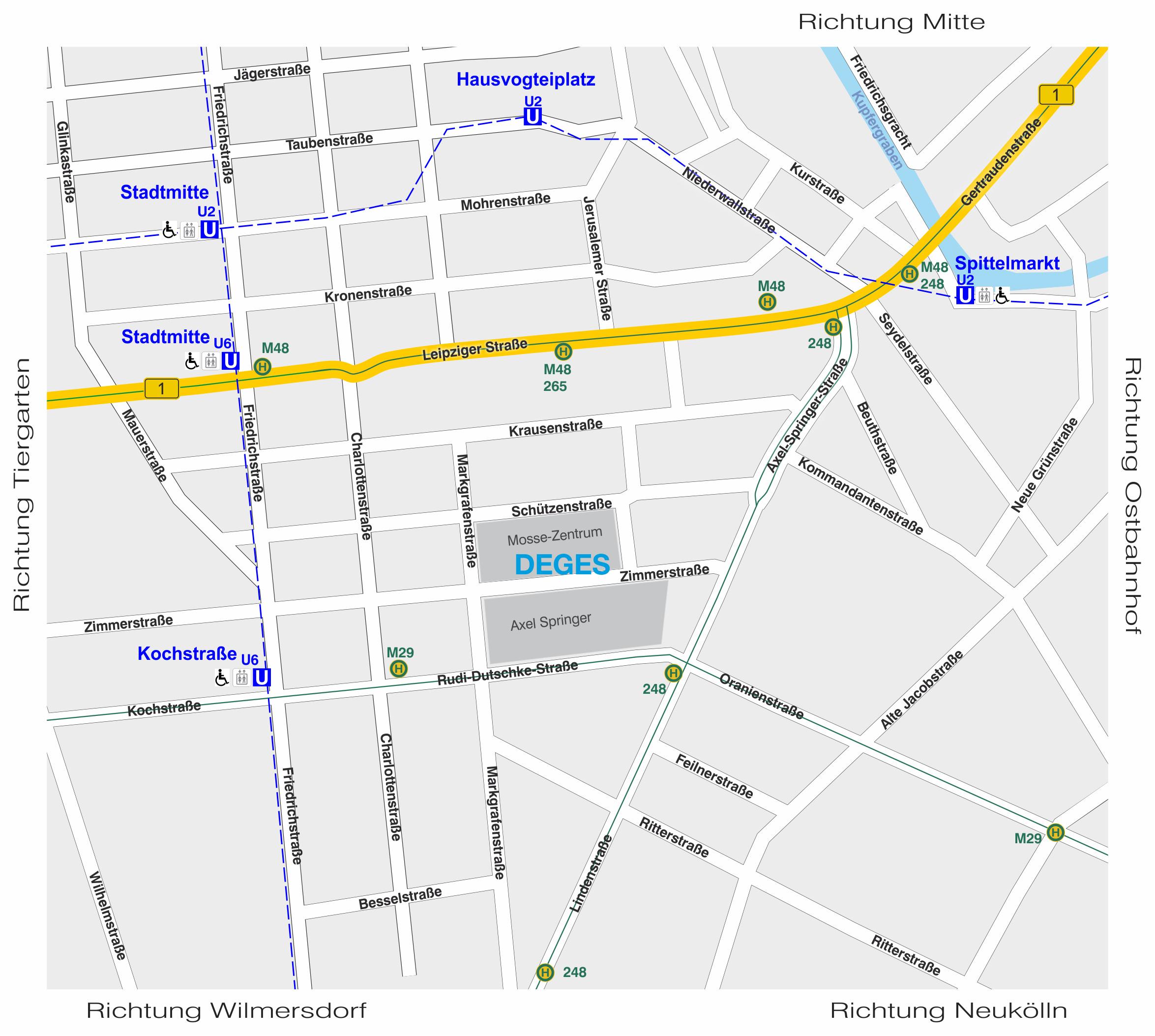 Berlin Zimmerstrasse 54 Lagekarte