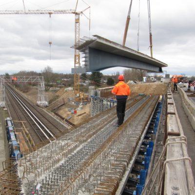 Bauarbeiten an der Brücke