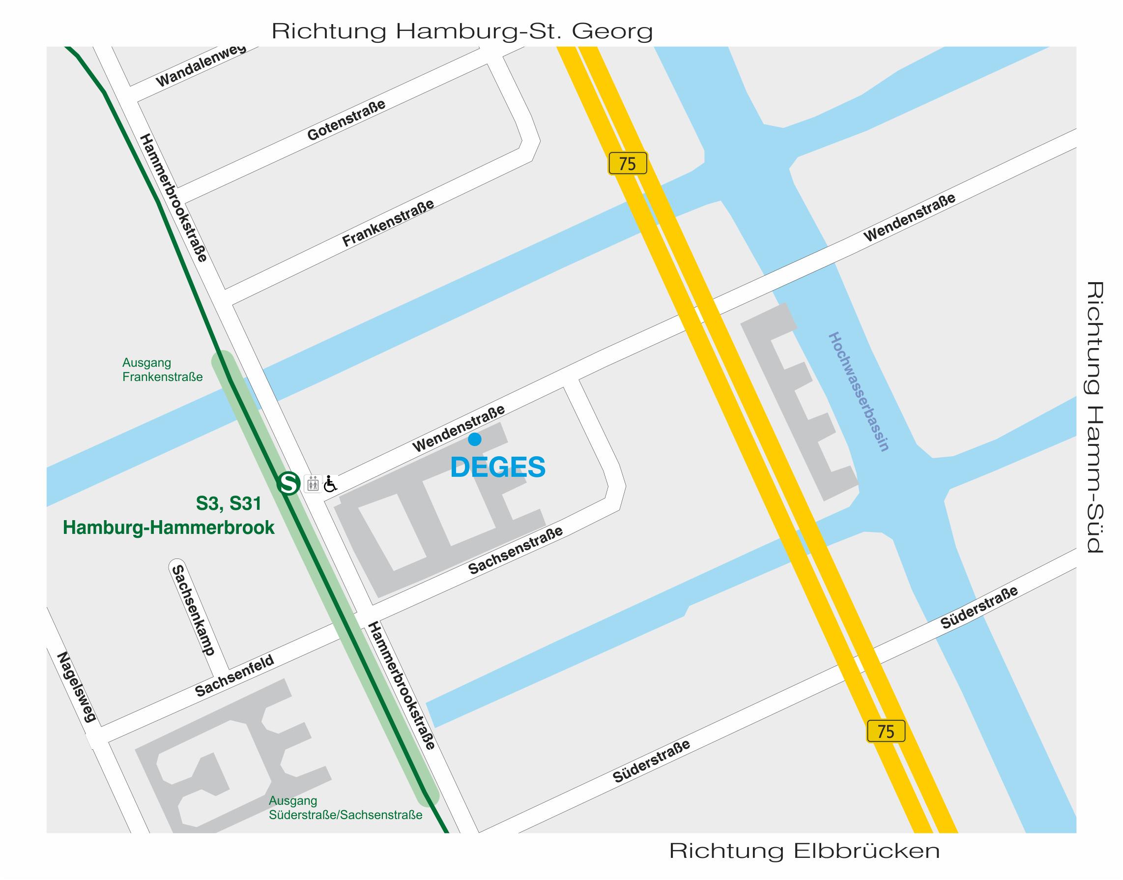 Hamburg Wendenstrasse 8-12 Lageplan