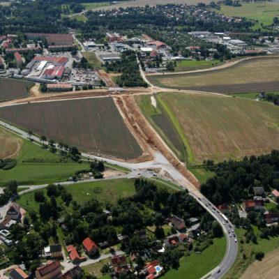 Luftbild B 96: Erster Bauabschnitt aus der Vogelperspektive