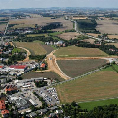 Luftbild B 96: In der Mitte: Schmoler Weg