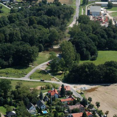 Luftbild B 96: Neustädter Straße und Baustraßen