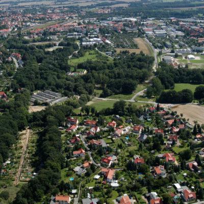 Luftbild B 96: Bauabschnitt 2: Blick von der Herrenteichsiedlung Richtung Spree