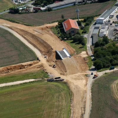 Luftbild B 96: Kreuzung B 96 mit neuem Schmoler Weg