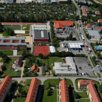 Luftbild B 96: Neue Zuwegung an der Daimlerschule