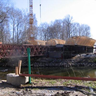 Traggerüst und Überbauschalung der Spreebrücke