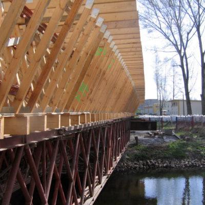 Traggerüst und Schalung der Spreebrücke