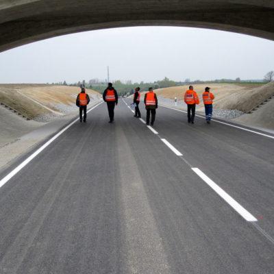 1. Bauabschnitt (Bauanfang bis zur B 6) kurz vor Verkehrsfreigabe