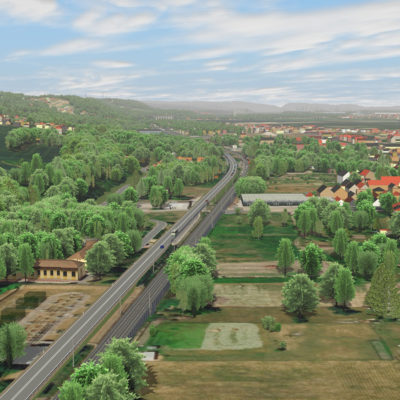 Visualisierung B 6 Dresden Cossebaude Vogelperspektive