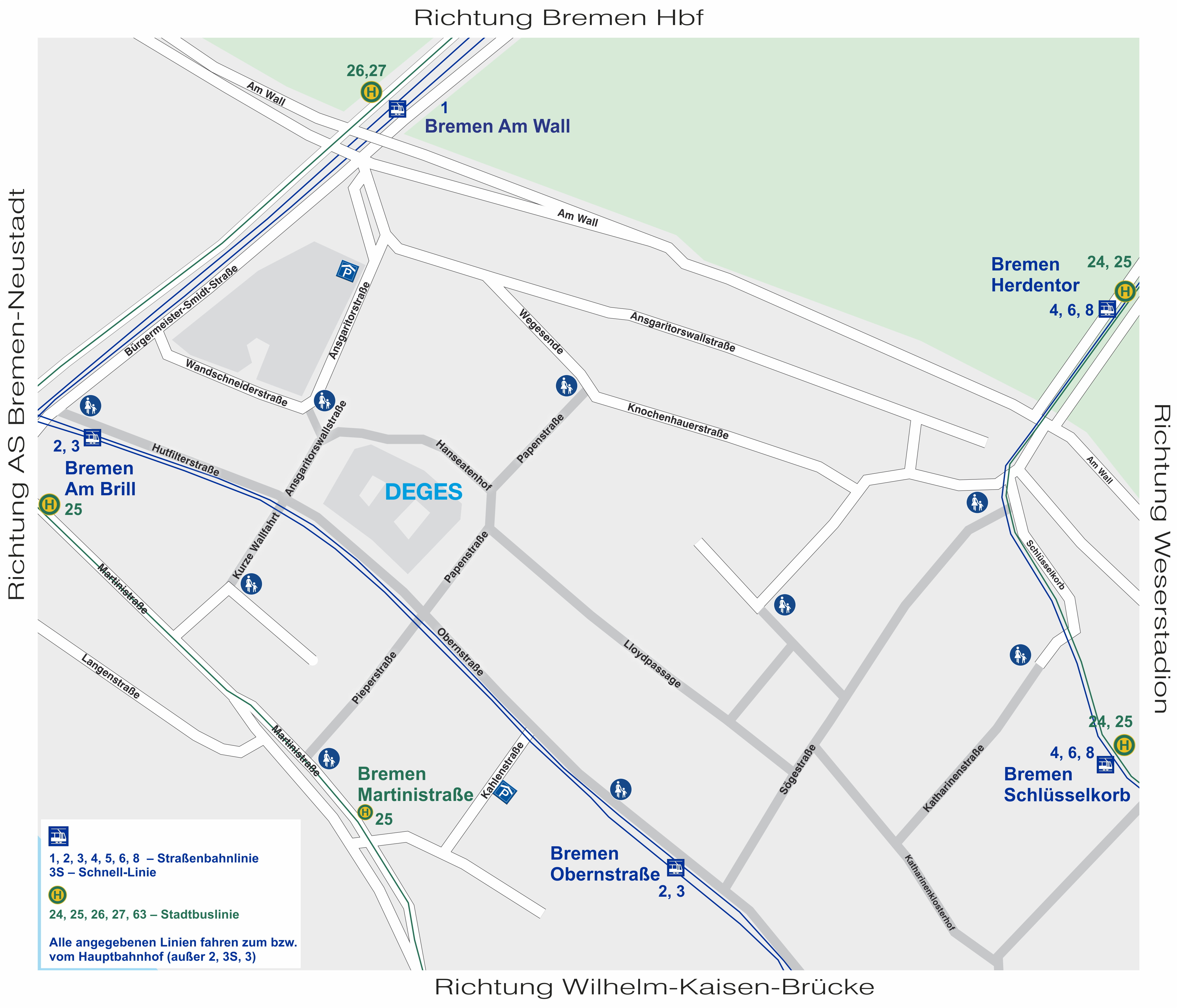 Bremen Hanseatenhof 8 Lageplan