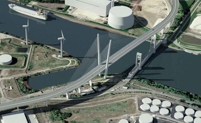 Ein Brückenentwurf auf dem dritten Platz