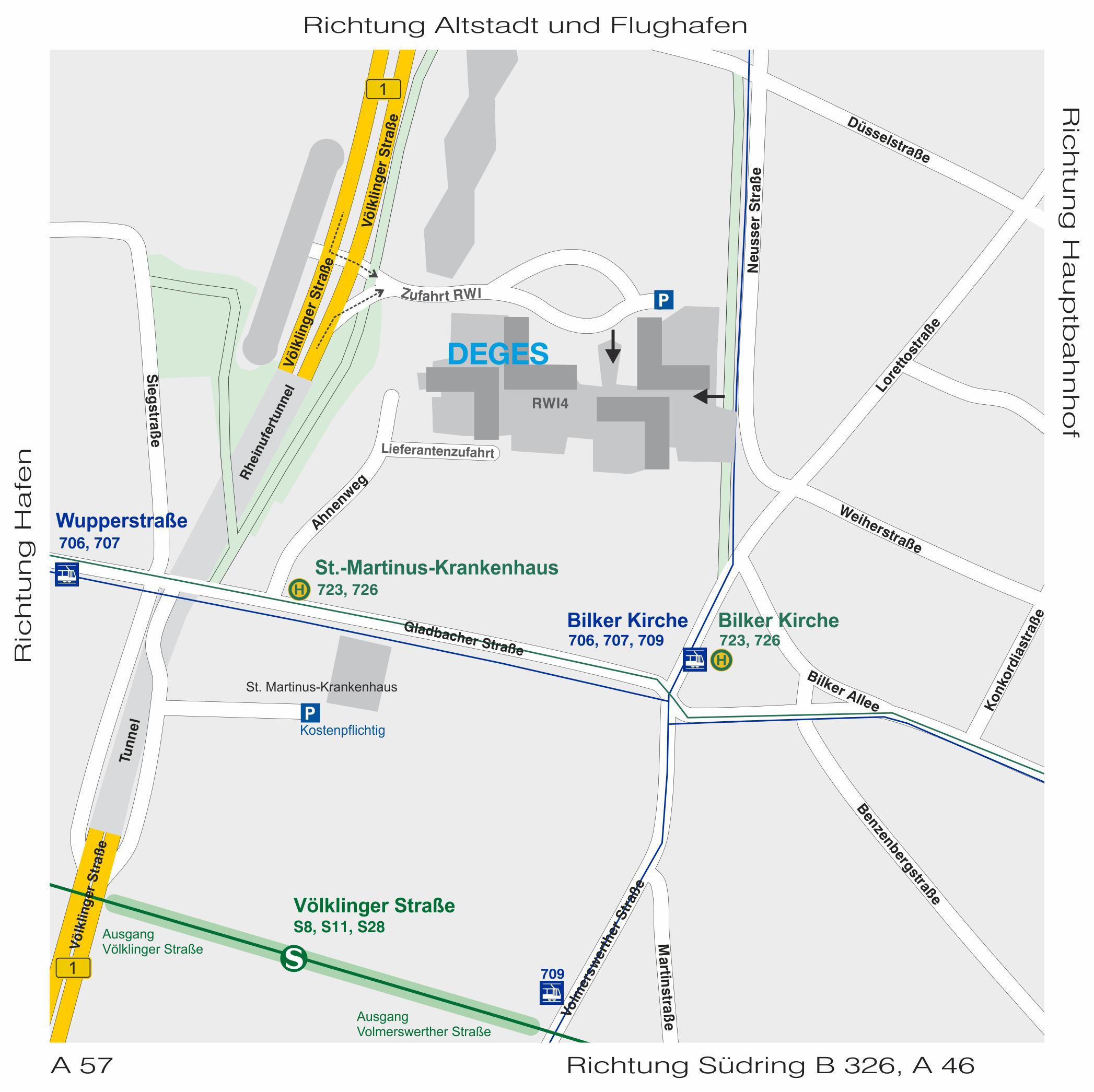 Düsseldorf Völklinger Strasse 4 Lageplan