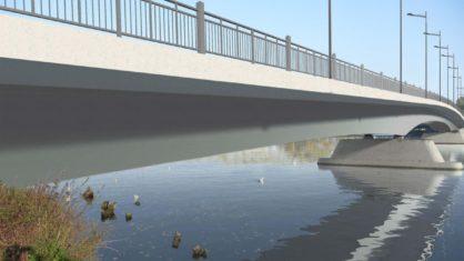 Visualisierung der neugebauten Carl-Ulrich-Brücke