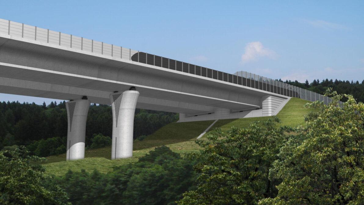 VIsualisierung der Talbrücke der A 49