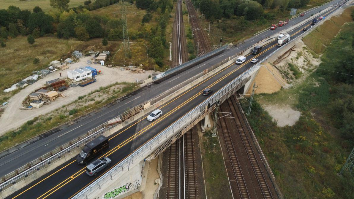 Luftaufnahme der Brücke Anfang September 2019