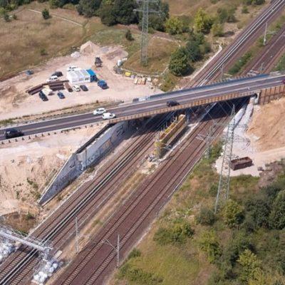 Luftaufnahme der Bestandsbrücke