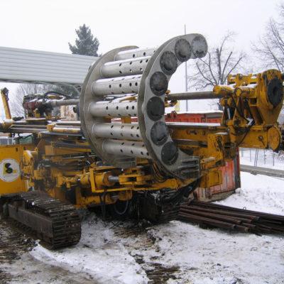 Ankerbohrgerät für die Tunnelbaustelle Daimlerstraße