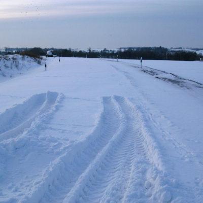 Winterruhe im Bereich der B 6n vor der Kreuzung mit dem Schmoler Weg