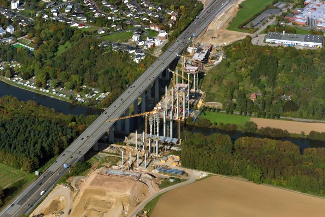 Luftbild der Lahntalbrücke