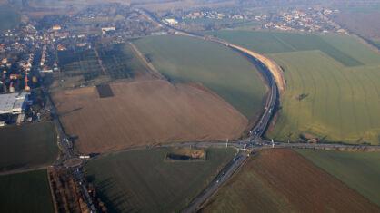 Luftbildaufnahme Ortsumgehung Theißen