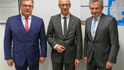 Hauptverband der Deutschen Bauindustrie zur Gast bei der DEGES