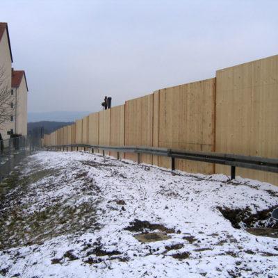 Hinteransicht Lärmschutzwand (Anwohnerseite: Daimlerstraße