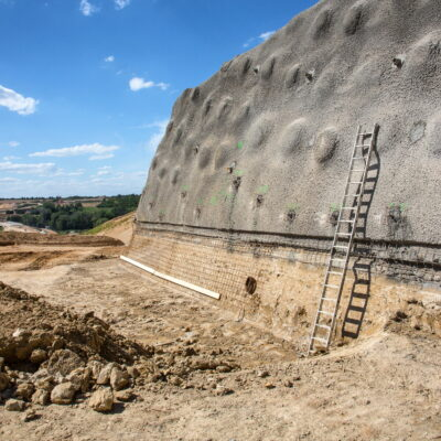 Bau des Tunnel Kohlbergs