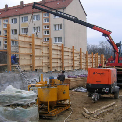Voraushubarbeiten für den künftigen Tunnel Daimlerstraße