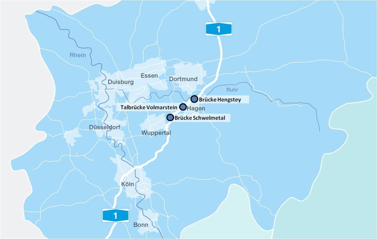 Die DEGES-Brücken-Projekte an der A1