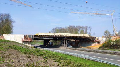 Baustelle der Überführung