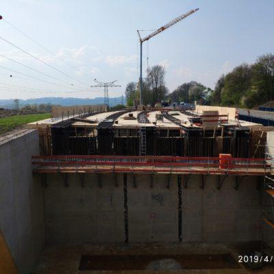 """Baustelle der Überführung """"Am Buddenacker"""""""