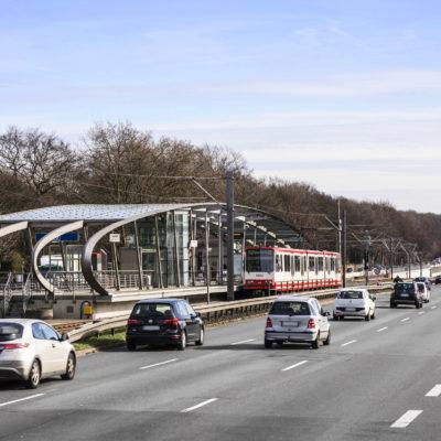 Die Bundesstraße B 1 vor dem Ausbau