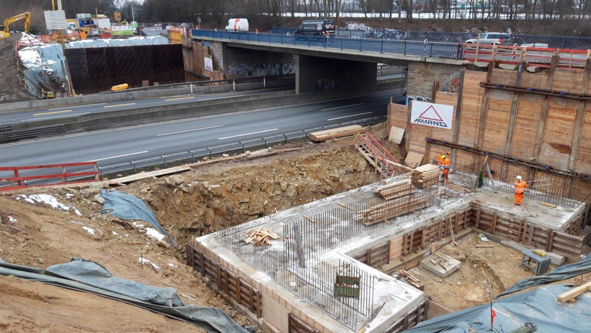 "Bauarbeiten an der Überführung ""Am Buddenacker"""