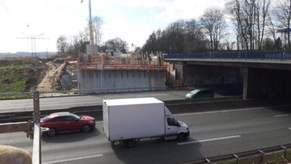 Baustelle der Überführung Brücke