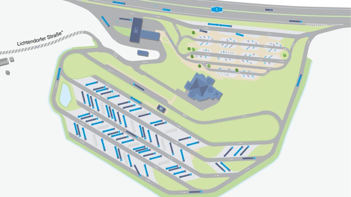 Kartendarstellung der ausgebauten Anlage