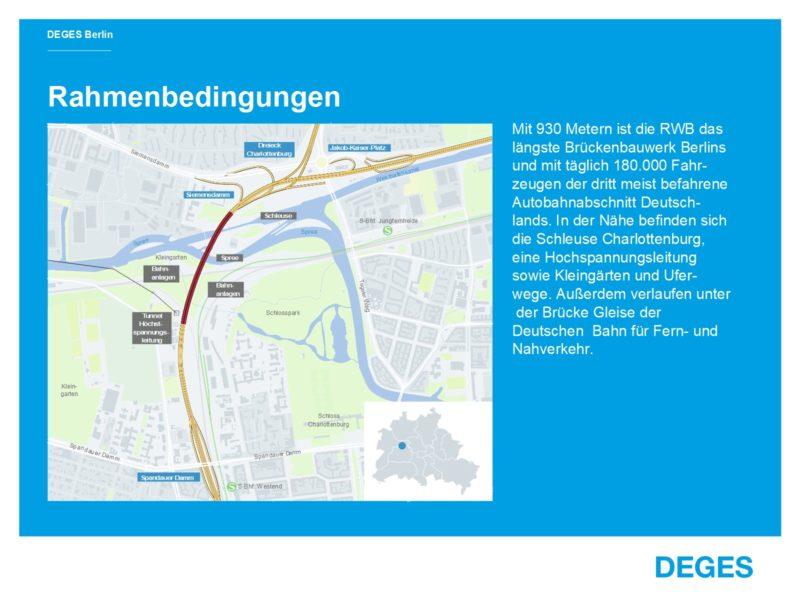 Infografik Rudolf-Wissell-Brücke Rahmenbedingungen