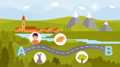 Screenshot aus dem Erklärvideo zur Planung von Bundesfernstraßen