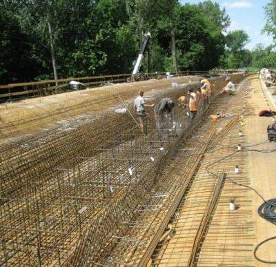 Der Überbau der Spreebrücke