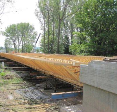 Schalungsbau der Spreebrücke