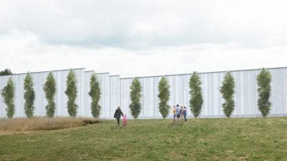 Visualisierung der Lärmschutzwand von der Anwohnerseite (c) Bildnachweis Kolb Ripke Architekten